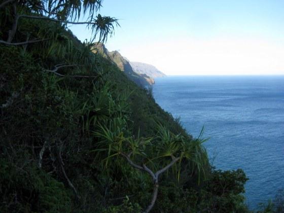 Kauai trail on Na Pali coast