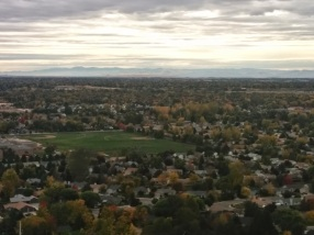 View of Boise from the bluff