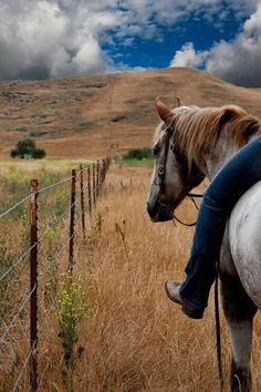 Riding on the ranch